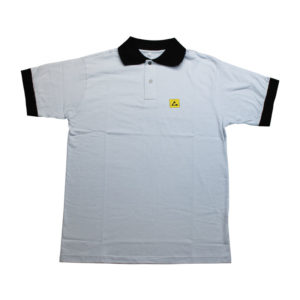 Polo ESD grigia in jersey