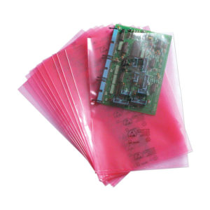 Pink antistatic bags and tubing