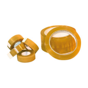 Antistatic low charging adhesive tapes