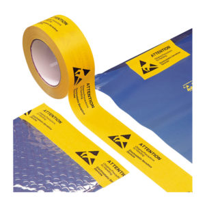 Packing tape with ESD symbol