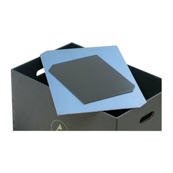 Horizontal dividers for conductive containers
