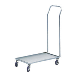 ESD single shelf trolley with handle