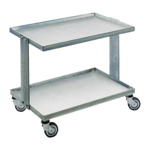 ESD adjustable double shelves trolley