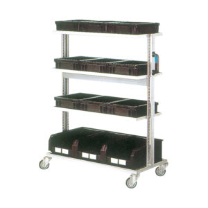 ESD trolley for conductive containers