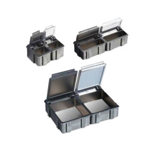 Conductive cabinets for flip-top boxes
